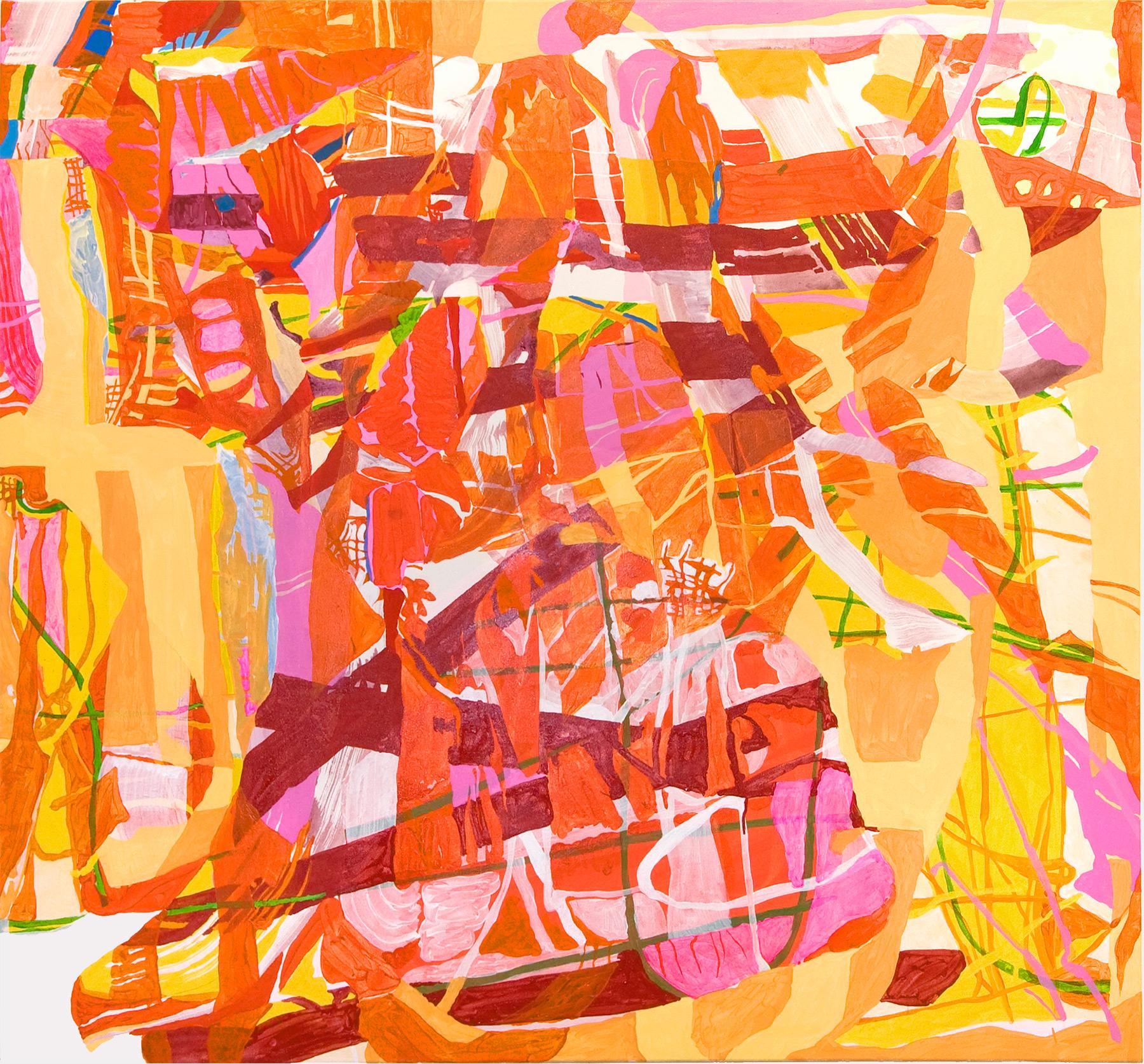 o.T. , 160×175 cm, Acryl auf Nessel, 2008, Privatbesitz USA