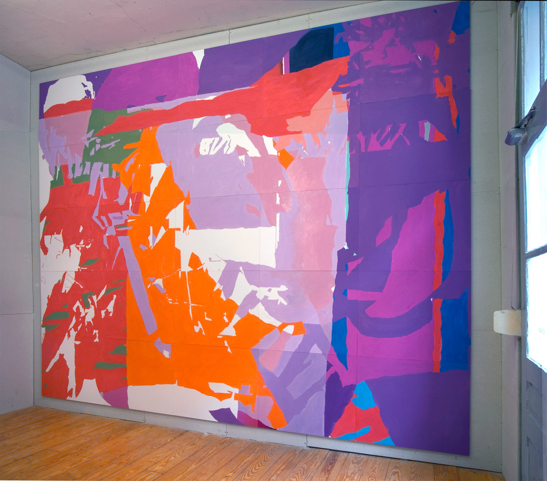Gouache auf Papier, 443×334 cm (25-teilig), Kunstraum Peng, Mannheim
