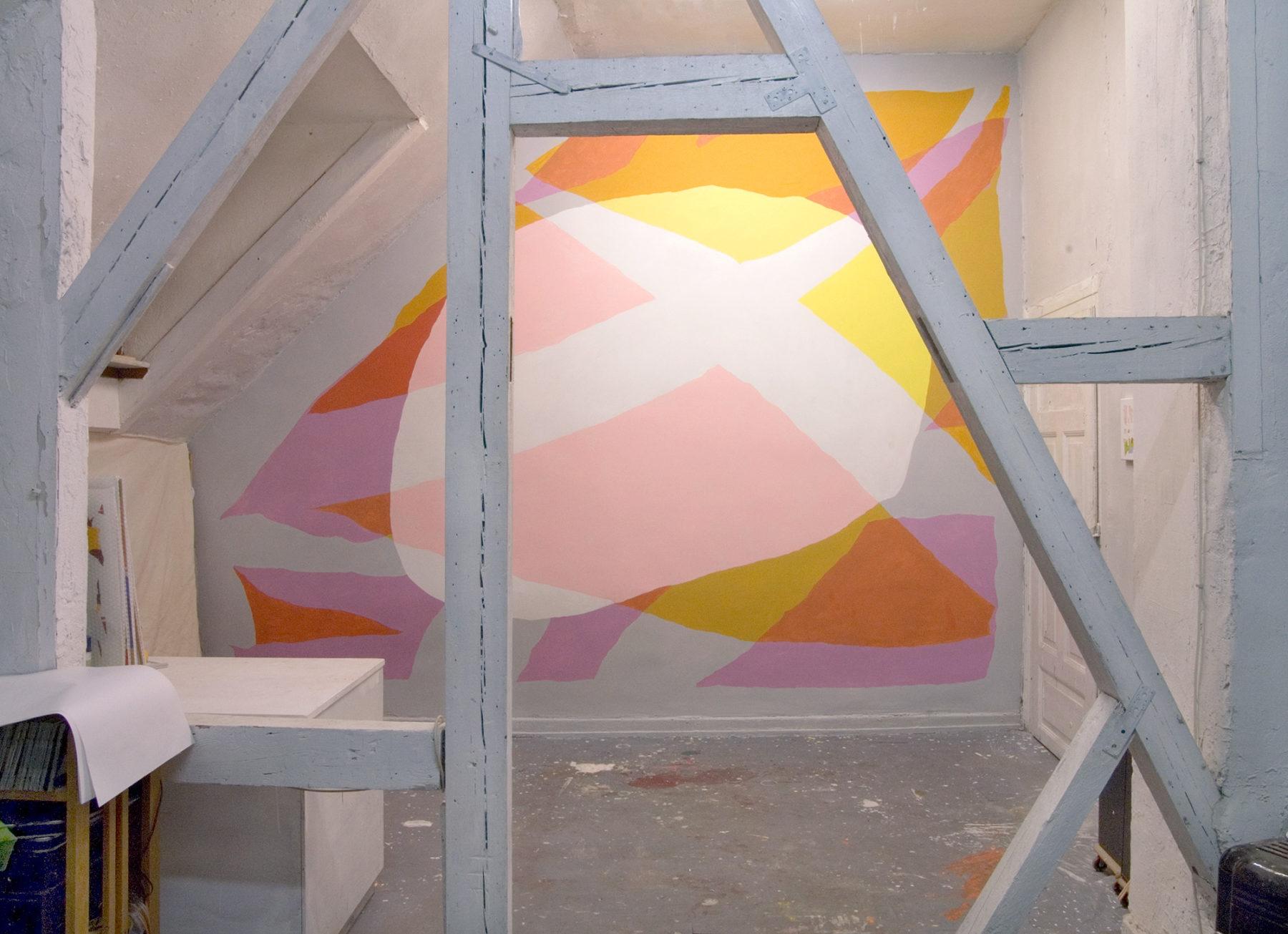 Acryl, Wandbild, Atelier h7/15, 2007