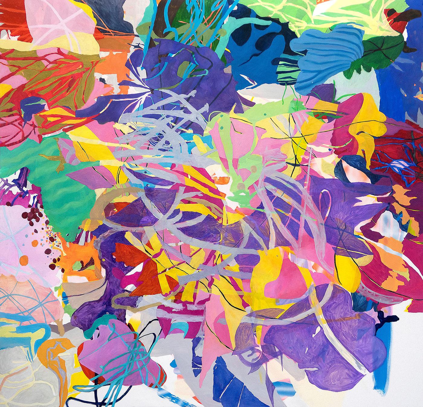 Acry, Spray und Öl auf Nessel, 200 x 190 cm, 2019