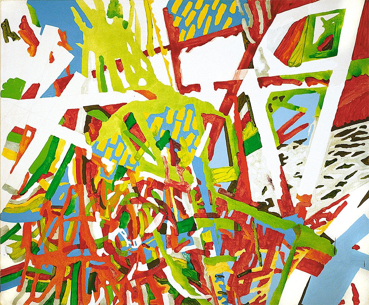Acryl auf Nessel,180x150cm, 1998, Privatbesitz Waldkirch