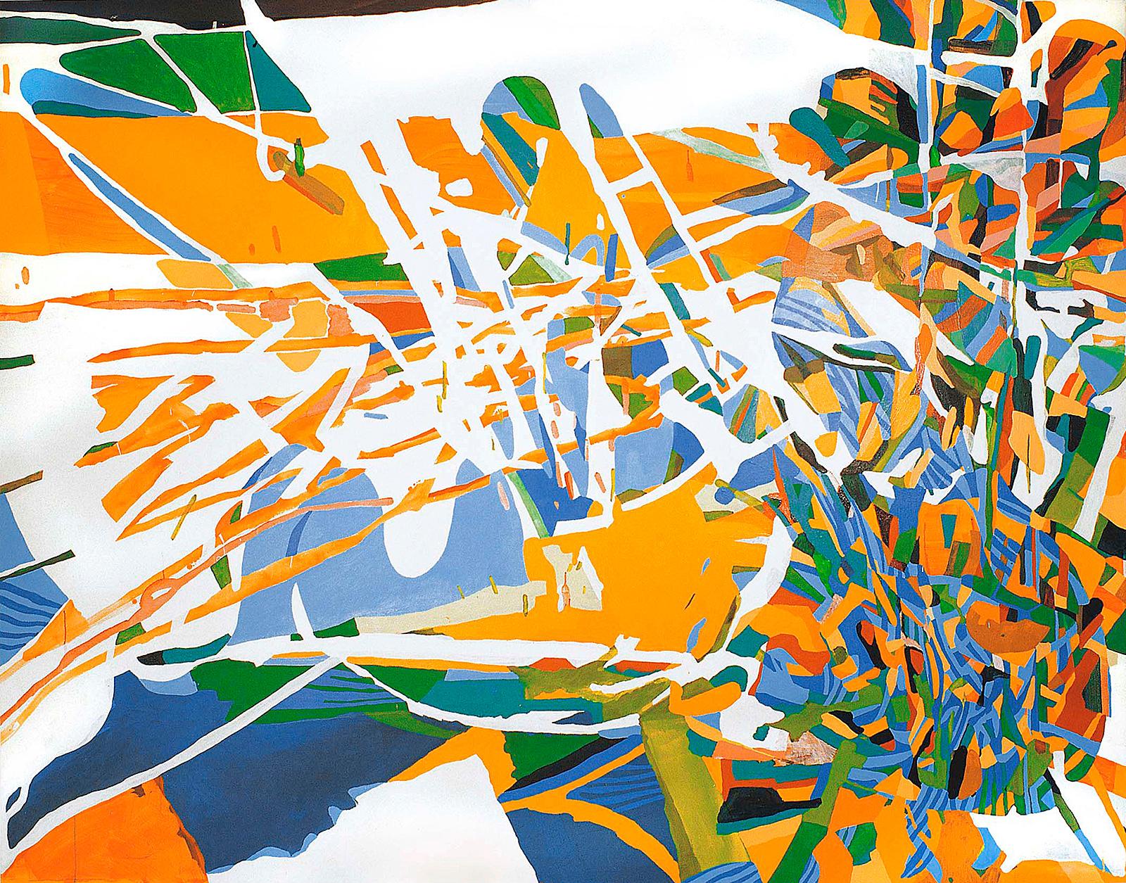 Acryl auf Nessel, 280×220 cm