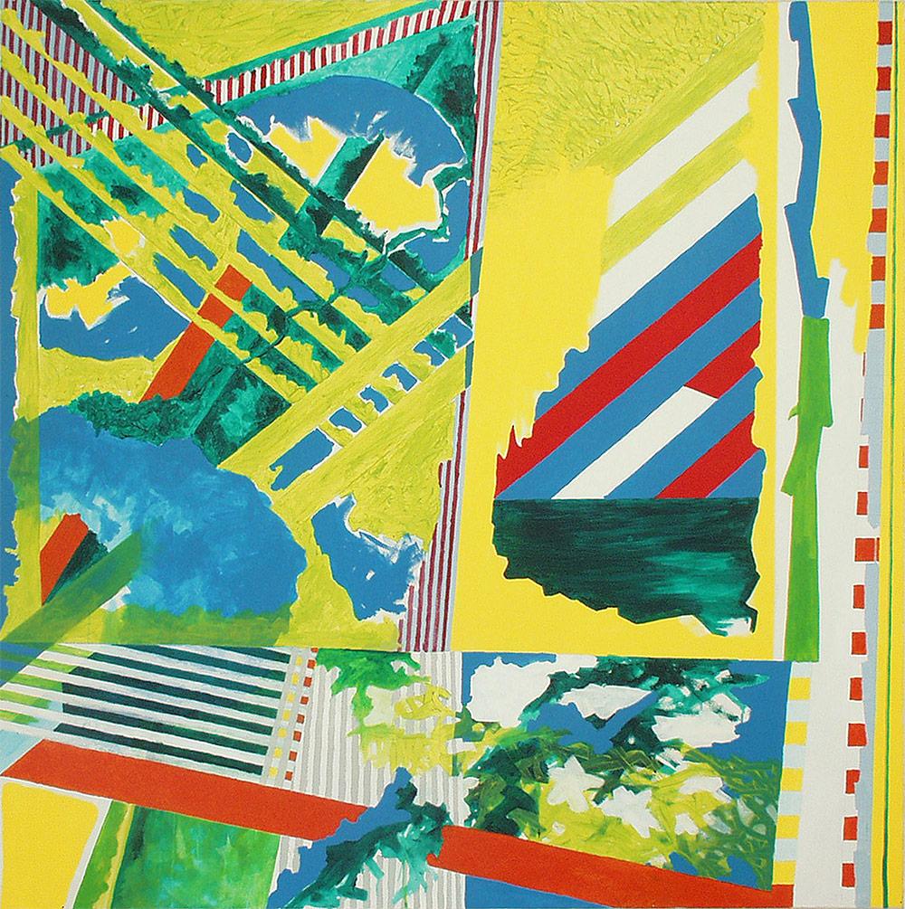 Acryl auf Nessel, 180x180cm, 1997
