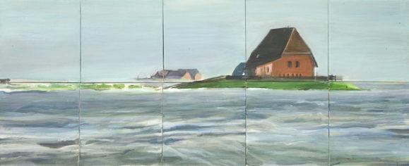 Die Halligen Acryl auf Leinwand/canvas, 50 cm x 125 cm