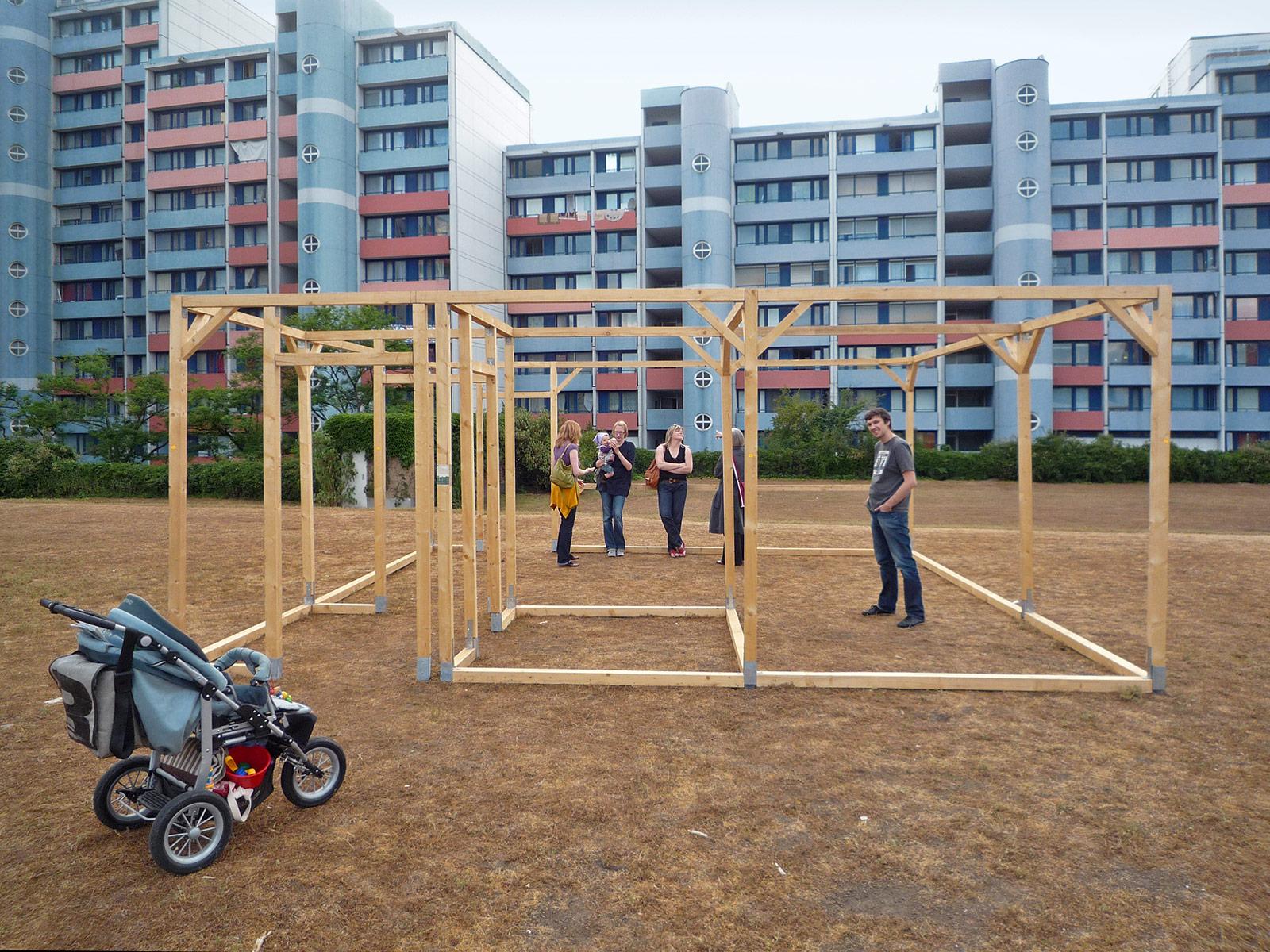 Luftmodell, 1-Zimmer Wohnung, Herzogenart 2011, Mannheim