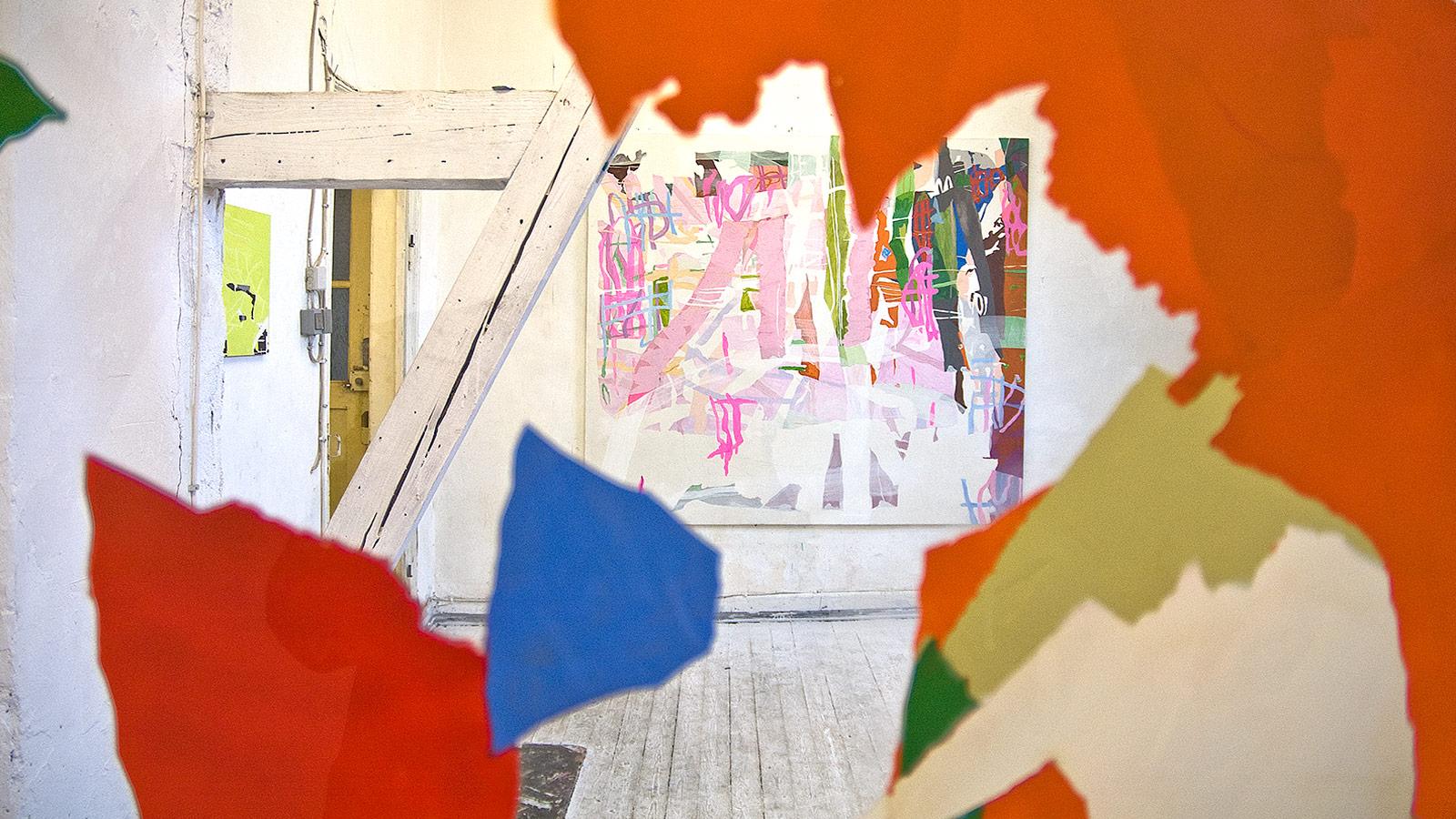 h7-15_Ausstellung2008, Blick durch einlamamalnie
