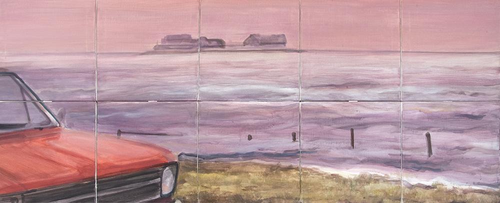Landunter 1977 (1+2) Acryl auf Leinwand/canvas, 80 cm x 200 cm