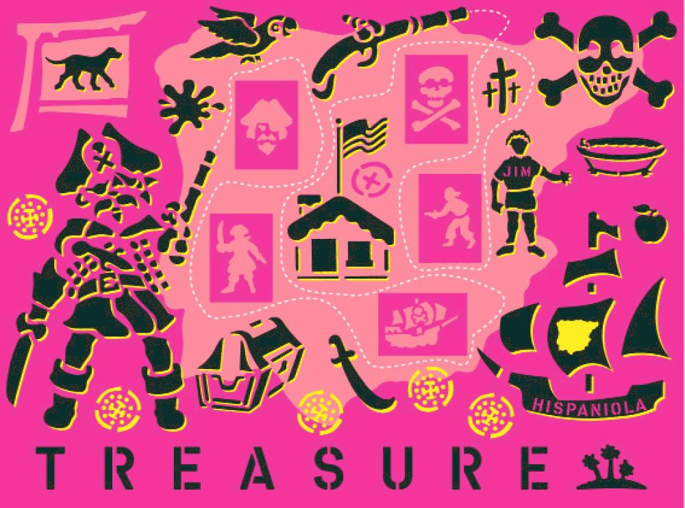 Konstantin Voit: Treasure Island 60x80 cm, Spray auf Leinwand, 2008, Auflage limitiert auf zehn Exemplare