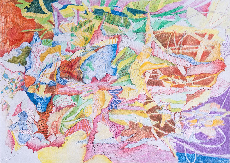 2020 Bunt- und Filzstifte auf Papier,  29,7×42cm